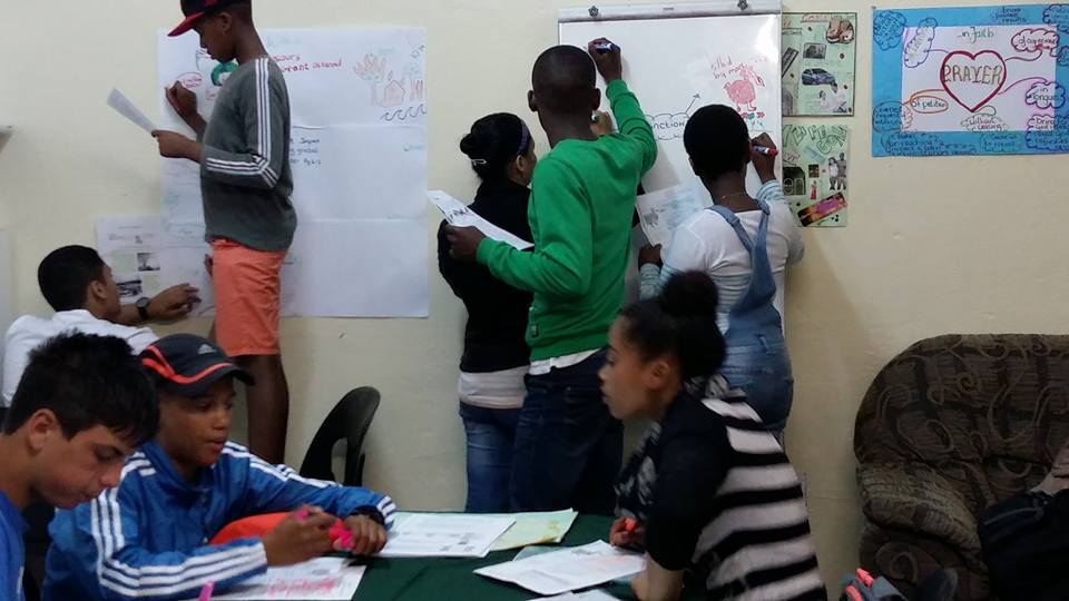 Our students at our office in Parow